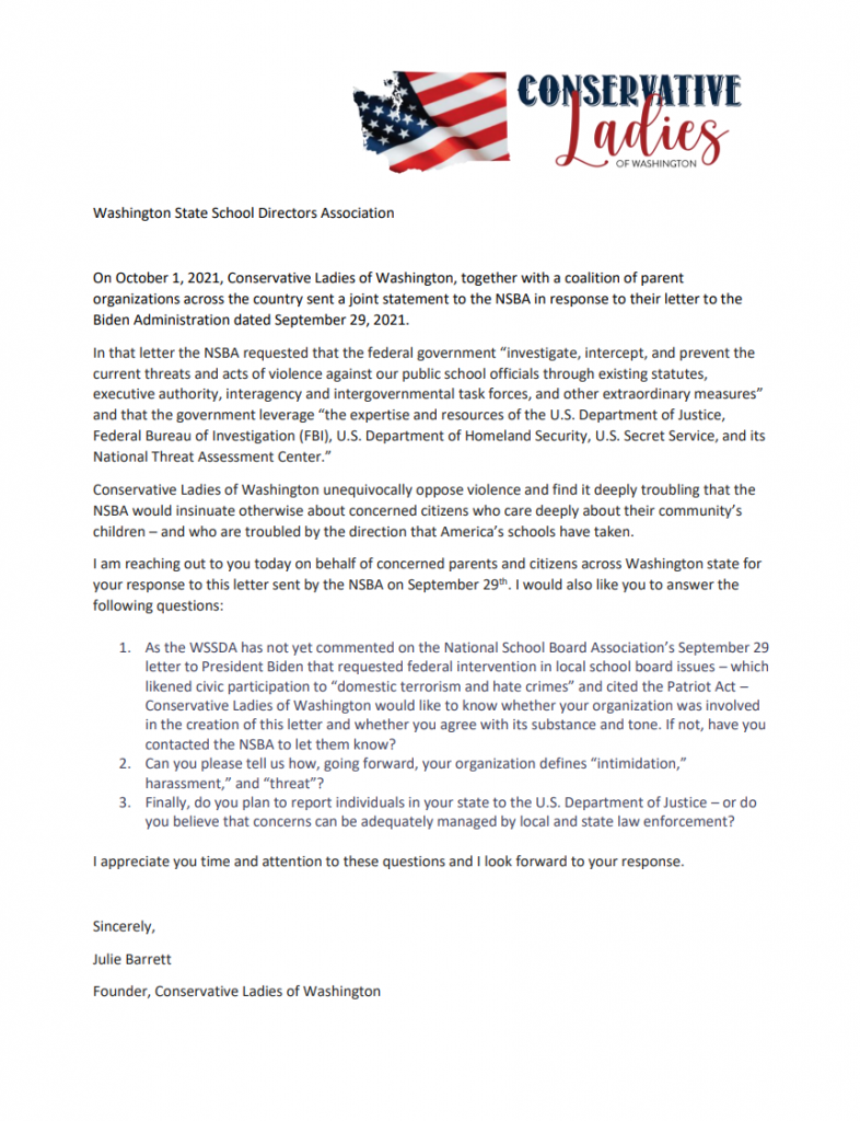 CLW letter to WSSDA
